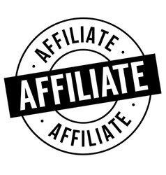 Affiliate stamp on white vector