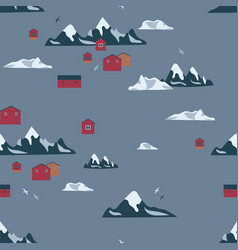 Antarctica seamless pattern vector