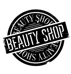 Beauty Shop rubber stamp vector