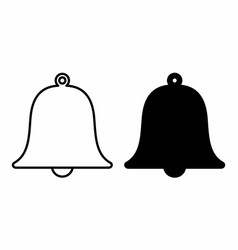 black and white bells vector image