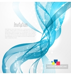 Blue modern abstract lines vector