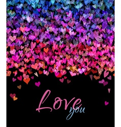 Bright hearts background vector