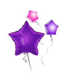 Bunch of star shape balloons vector