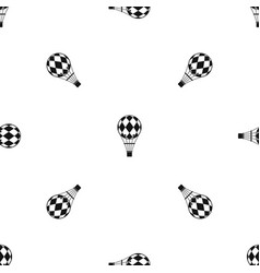 Checkered air balloon pattern seamless black vector