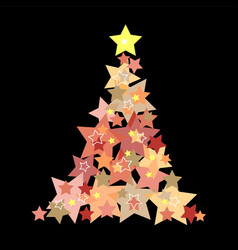 christmas background abstract tree vector image