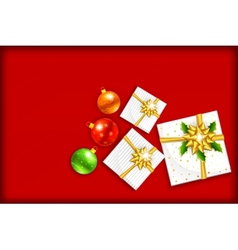 Christmas Gift with Bauble vector image