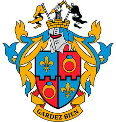 Coat arms montgomery county in maryland usa vector