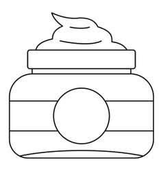 Cosmetic face cream container icon outline style vector