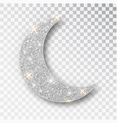 crescent islamic for ramadan kareem design element vector image