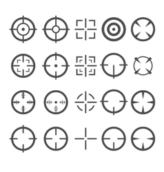 Crosshair Icon Set Target Mouse Cursor Pointers vector