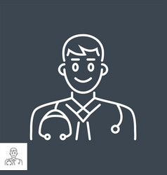 doctor related thin line icon vector image