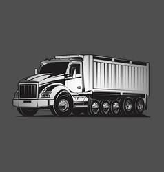 dump truck huge load grey vector image