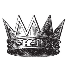 Eastern crown vintage engraving vector