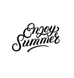 enjoy summer hand written lettering vector image