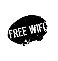 Free wifi rubber stamp vector