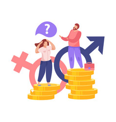Gender gap salary composition vector