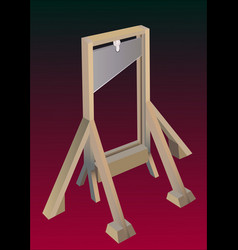 guillotine vector image