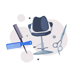 hairdresser tools set barber supplies for styling vector image