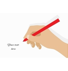 Hand writing simple icon vector image