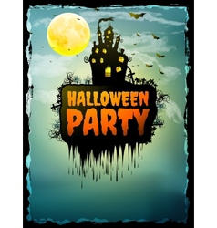 happy halloween party poster eps 10 vector image