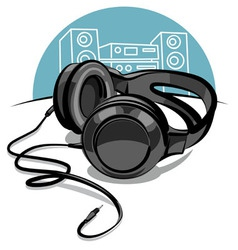 headphones vector image