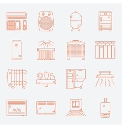 House Heating Icon Set vector