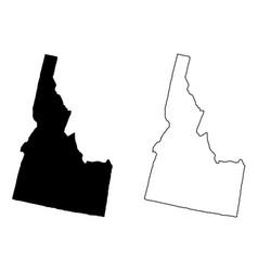 idaho map vector image