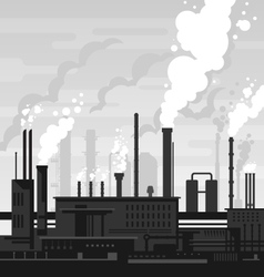 Industrial Plant Landscape vector image