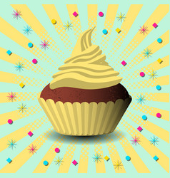 international cake day capcake dessert pastries vector image