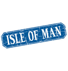 Isle of man blue square grunge retro style sign vector