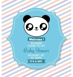 Kawaii panda Baby Shower design graphic vector