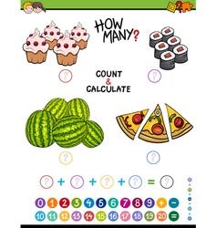 Math educational activity vector
