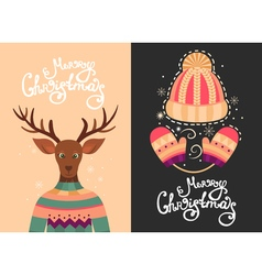 Merry Christmas greeting cards vector