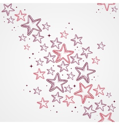 Merry Christmas star shapes seamless pattern vector image