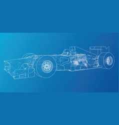 Model speed car abstract drawing wire-frame vector