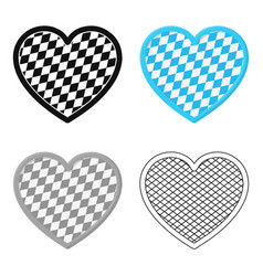 oktoberfest heart icon in cartoon style isolated vector image