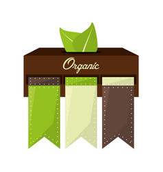 organic food natural product vector image