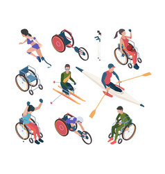 Paralympic games athletic disability persons vector