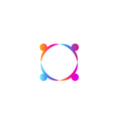 People holding hands logo template union icon vector