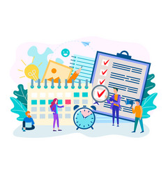 perform work by staff on time time management vector image