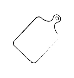 Plastic cutting board vector