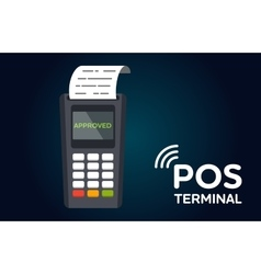 POS payment terminal flat icon vector image