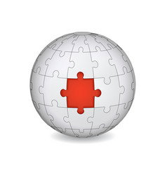puzzle land with red the middle vector image