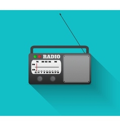 Radio retro vector image