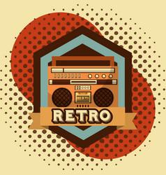retro vintage devices vector image