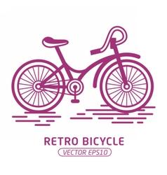RetroBicycle02 vector image