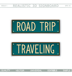 road trip traveling vector image