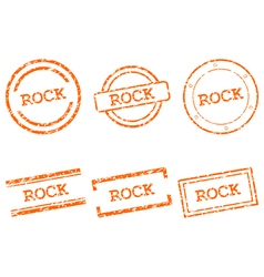 Rock stamps vector image