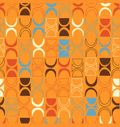Seamless orange abstract retro pattern vector
