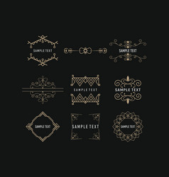 set line art decoration geometric frames logo vector image